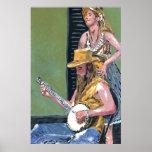 Jugador real del banjo del St. Posters