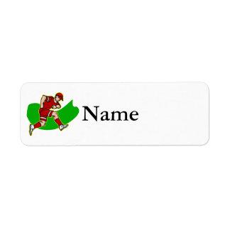 jugador rojo etiquetas de remite