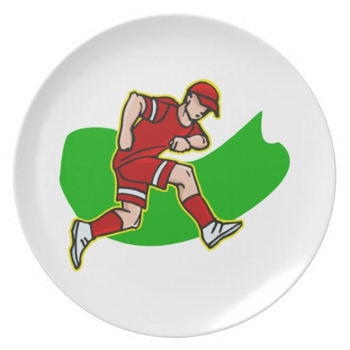 jugador rojo platos de comidas