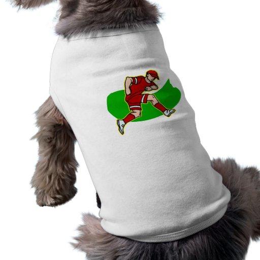 jugador rojo ropa de perros