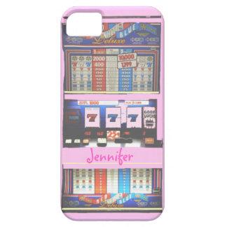 Jugador rosado del casino de la máquina iPhone 5 carcasa