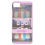 Jugador rosado del casino de la máquina tragaperra iPhone 5 cobertura
