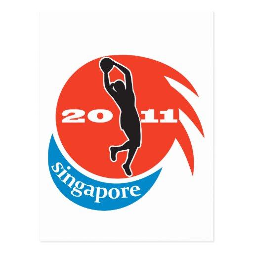 Jugador Singapur 2011 del Netball Tarjeta Postal