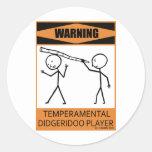 Jugador temperamental amonestador de Didgeridoo Pegatinas