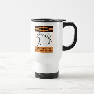 Jugador temperamental amonestador del Dulcimer Taza De Café