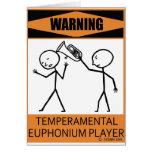 Jugador temperamental amonestador del Euphonium Felicitacion