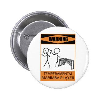 Jugador temperamental amonestador del Marimba Pin