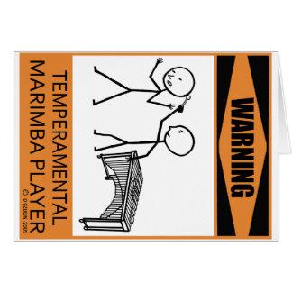 Jugador temperamental amonestador del Marimba Felicitaciones