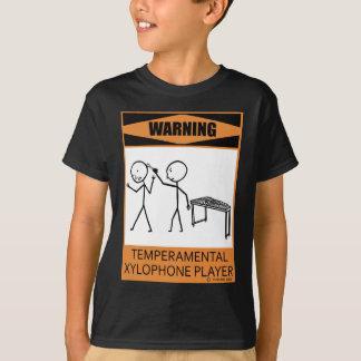 Jugador temperamental amonestador del xilófono playera
