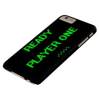 Jugador uno de ProductReady del personalizar Funda De iPhone 6 Plus Barely There
