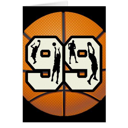 Jugadores de básquet del número 99 felicitacion