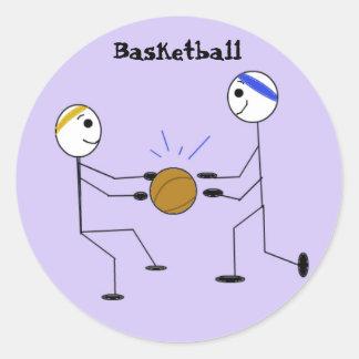 Jugadores de básquet etiquetas redondas