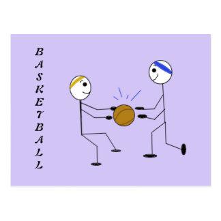 Jugadores de básquet postal