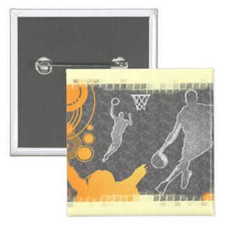 Jugadores de básquet y fan del Grunge Pin