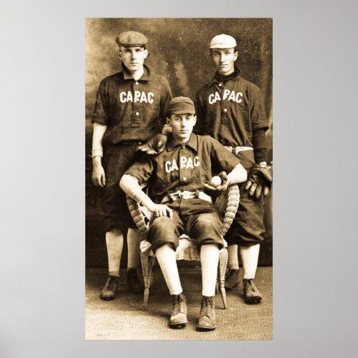Jugadores de béisbol del vintage posters