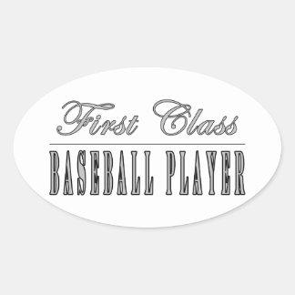 Jugadores de béisbol Jugador de béisbol de la pri Calcomanías De Ovales