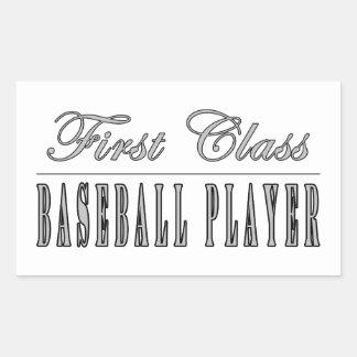 Jugadores de béisbol Jugador de béisbol de la pri Rectangular Pegatina