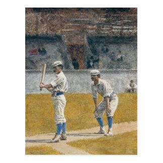 Jugadores de béisbol que practican - Thomas Eakins Postal