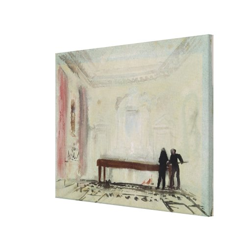 Jugadores de billar en la casa de Petworth, 1830 Lienzo Envuelto Para Galerias
