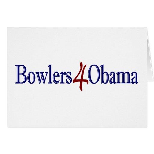 Jugadores de bolos 4 Obama Tarjeton