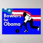 Jugadores de bolos para el poster de Obama