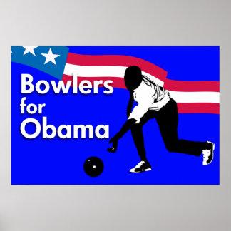 Jugadores de bolos para el poster de Obama Póster