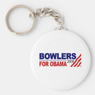 Jugadores de bolos para Obama Llaveros Personalizados