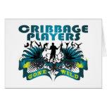 Jugadores de Cribbage idos salvajes Tarjeta