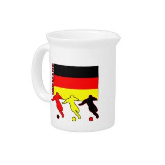 Jugadores de fútbol alemanes jarras