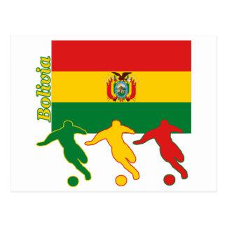 Jugadores de fútbol - Bolivia Postales