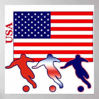 Jugadores de fútbol de los E.E.U.U. Póster