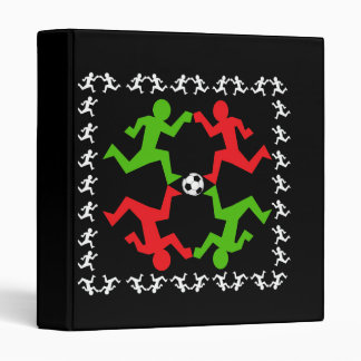 """Jugadores de fútbol que corren al modelo de la bol carpeta 1"""""""