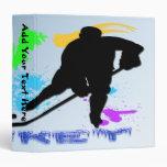 """Jugadores de hockey 1,5"""" carpeta"""