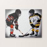 jugadores de hockey de menor importancia en el rom puzzle con fotos