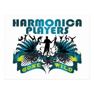 Jugadores de la armónica idos salvajes tarjeta postal