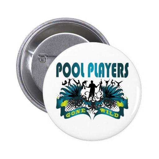 Jugadores de la piscina idos salvajes pin