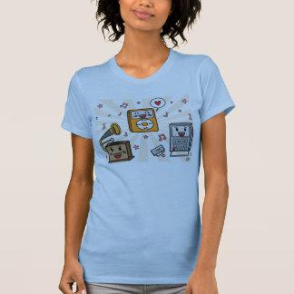 Jugadores de música lindos - camiseta de las