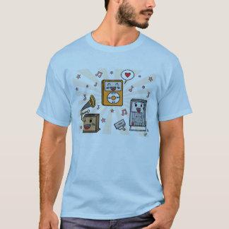 Jugadores de música lindos - la camiseta de los