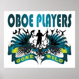 Jugadores de Oboe idos salvajes Poster