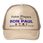 Jugadores de póker para Ron Paul Gorra