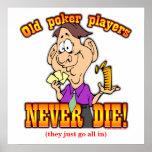 Jugadores de póker poster