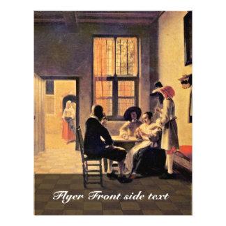 Jugadores de tarjeta de Hooch Pieter De (la mejor Folleto 21,6 X 28 Cm