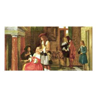 Jugadores de tarjeta de Hooch Pieter De (la mejor Tarjetas Fotograficas