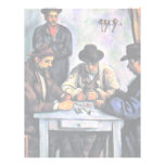 Jugadores de tarjeta de Paul Cézanne (la mejor cal Membrete Personalizado