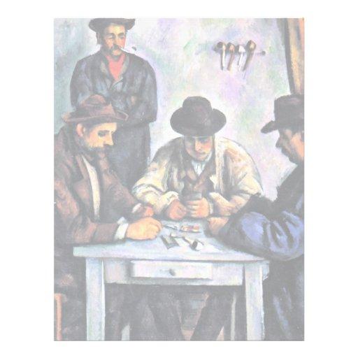 Jugadores de tarjeta de Paul Cézanne (la mejor cal Plantilla De Membrete