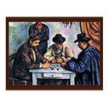 Jugadores de tarjeta de Paul Cézanne (la mejor cal Postal
