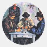 Jugadores de tarjeta de Paul Cézanne (la mejor Etiqueta Redonda