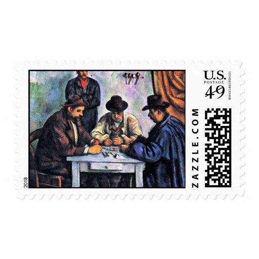 Jugadores de tarjeta de Paul Cézanne (la mejor Sellos