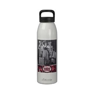 Jugadores del acordeón - foto del vintage botellas de beber