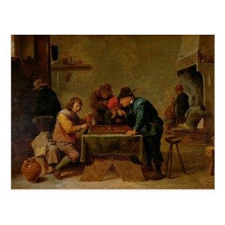 Jugadores del backgammon, c.1640-45 postales
